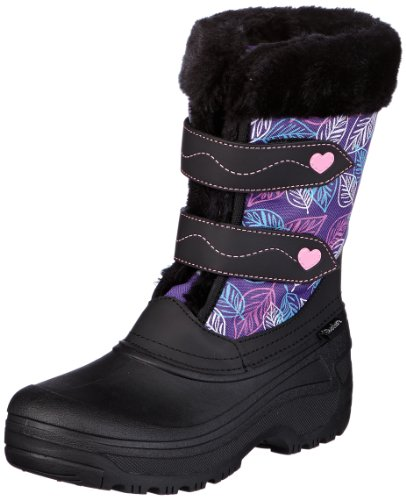 Skechers Girls Lil Frost Collectables Snow Boots Black Schwarz (BKPR) Size: 36
