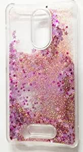 ACCWORLD 3D Glitter Waterfall Back Cover Case for Xiaomi Redmi Note 3 (ROSE GOLD )
