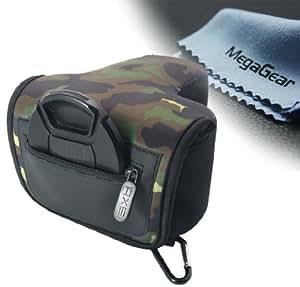 MegaGear ''Ultra Light'' Neoprene Camera Case Bag for Canon Rebel T5í, Canon Rebel T4i, Canon EOS Rebel T5, Rebel SL1, Nikon D3300, D3200, D5200, D530
