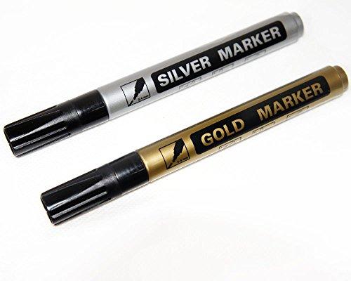 wenker-2-x-lot-de-2-marqueurs-pointe-or-argent-maker-edding-stylo-retouche-pour-env-14-cm