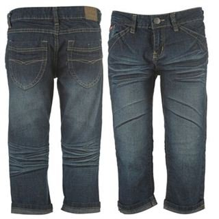 Lee Cooper Cropped Jeans Ladies Dk Wash 18 (XXL)
