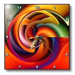 Digital Artwork Design 7 - 10x10 Wall Clock