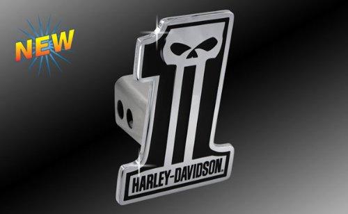 Harley Davidson Car Truck SUV Hitch Plug Cover Receiver - #1 Logo Skull w/ Script