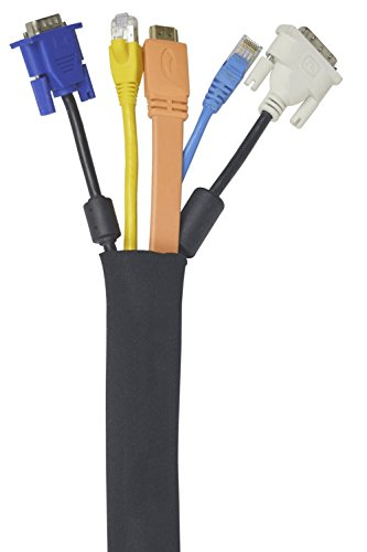 Raccogli Cavi | Confezione da 5 | 50 cm Nero Passacavi Prodotto con Neoprene Flessibile di Alta Qualità | Baltic Living® Copri Cavi