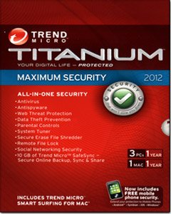 Trend Micro Titanium Maximum Security 2012 - 3 Users (3 PC, 1 Mac)