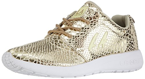 L.A. Gear Sunrise, Low-Top Sneaker donna, Oro (Gold (Gold-Wht 04)), 36