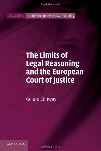 法律推理和欧洲法院的司法 (剑桥大学欧洲法律与政策研究) 的限制
