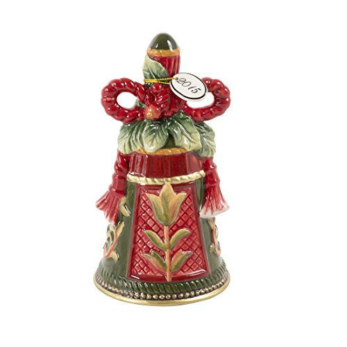 Fitz and Floyd Night Before Christmas Collection Decorative Dated Bell Figurine