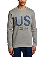 Selected Homme Sudadera Flight Crew Neck (Gris)