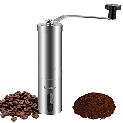 Homdox Manual Coffee Bean Grinder , Stainless Steel