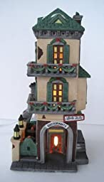 Department 56 Heritage Village Collection ; Christmas in the City Series ; Italian Restaurant Little Italy Ristorante #55387