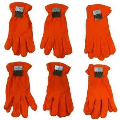 Ddi Men's Safety Orange Fleece Gloves(Pack Of