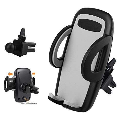 Car Cell Phone Holder, X-cable Universal Air Vent Car Mount Stand with 360° Rotation Ball Joint, Car Cradle for iPhone iPods Smartphones Mini Tablets and GPS Devices, Expand up to 3.7 inch, Black (Iphone Car Vent Holder compare prices)
