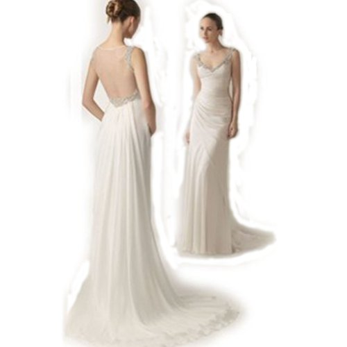 DEPENE Women Lady Bridal Lace Wedding Dress Custom
