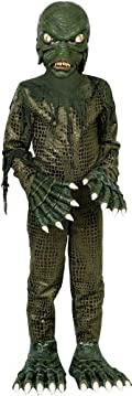 Swamp Monster Child Costume Green Medium (8-10)
