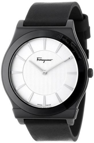 "Salvatore Ferragamo Men's FQ3010013 ""1898"" Watch with Leather Band image"