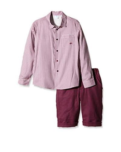 Elisa Menuts Conjunto Camisa+ Bermuda Burdeos
