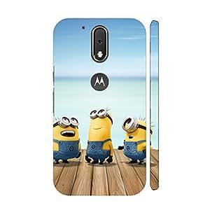 Clapcart Minions Design Printed Mobile Back Cover for Motorola Moto G4 Plus / Moto G Plus 4th Gen / Moto G4 -Multicolor