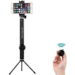 APPHOME Selfie Stick, Aluminum Extendable Monopod 10\