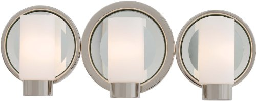 "Kovacs P5863 3 Light 18.75"" Bathroom Vanity Light From The Next Port Collection, Polished Nickel"