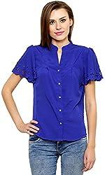 ShilpKala Women's Short Sleeve Top (skt3055s, Blue, Small)