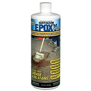 Rhino epoxy floor coating reviews ask home design for How to degrease concrete garage floor