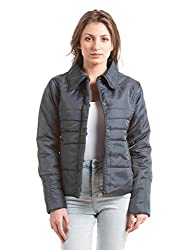 Shuffle Women's Quilted Jacket (1021525002_Navy_Medium)
