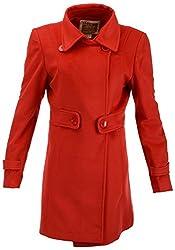 Panache Women's Button Down Coat (P0179, Red, L)