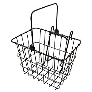 Wald 114 Compact Front Quick Release Bicycle Basket (11.75 x 8 x 9, Black)