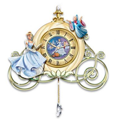 For Sale Cinderella Sculpted Wall Clock Midnight S Spell
