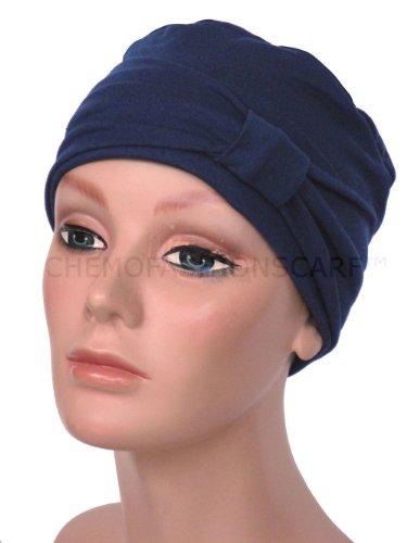 Turban Plus Day & Night Cap With Headband 2 Piece Set In Navy Blue