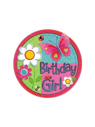 Garden Girl Large Paper Plates (8ct)