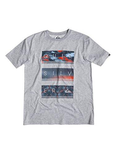 Quiksilver Tee Hyper Classic-Maglietta a maniche corte da uomo, UOMO, Athletic Heather, M