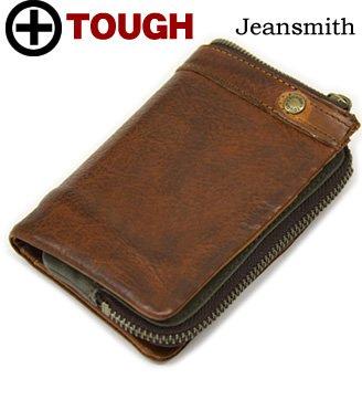 TOUGH WALLET LEATHER WASH 縦型 二つ折り財布 55561ブラウン 【タフ レザーウォッシュ】