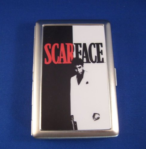 Scarface Cigarette Case Money Clip Holder One Love Rasta New Fits 100s