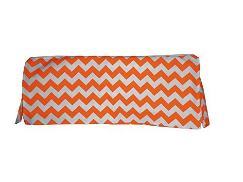 Baby Doll Chevron Crib Dust Ruffle, Orange