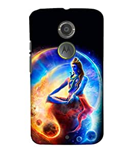 printtech Lord God Om Namah Shivaya Space Back Case Cover for Motorola Moto X2::Motorola Moto X (2nd Gen)