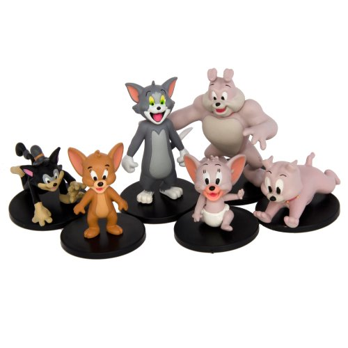 """Hanna Barbera HB Tom and Jerry - 2"""" Collector (6-Pack)"""