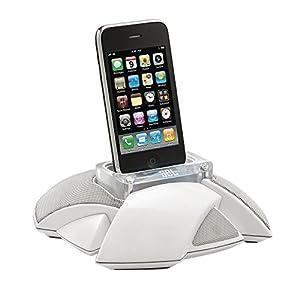 JBL On Stage Micro III Système d'enceinte avec Station d'accueil Compatible iPhone 3G, 3GS, 4, 4S, iPod Touch 4 and iPhone Nano 6 - Blanc - Livré avec Prise Française et Anglaise