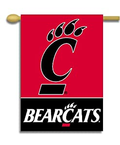 Buy NCAA Cincinnati Bearcats 2-Sided 28-by-40 inch House Banner with Pole Sleeve by BSI