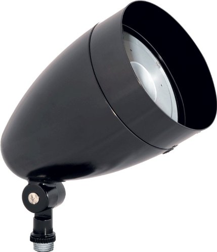 Rab Hbled10Yb Led Flood 10W Warm Led Bullet With Hood And Lens, Black Color