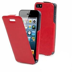 Muvit - Etui/Housse Iphone 5/5s Clapet ultra fin - Rouge - MUSLI0085