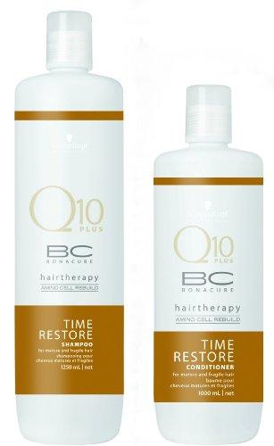 Schwarzkopf BC Time Restore Shampoo and Conditioner Liter Duo (33.8 oz each)