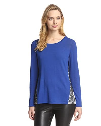Katherine Barclay Women's Combo Pullover with Lace Trim