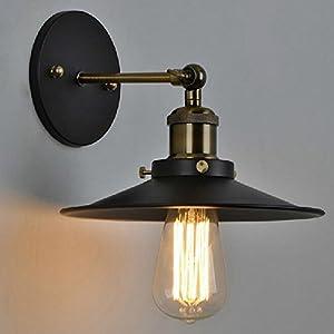 Buyee Modern Vintage Industrial Loft Metal Black Rustic Scone Wall Light Wall Lamp from Shenzhen Buyee Trading Co.,Ltd