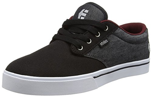 Etnies Men's Jameson 2 ECO Skate Shoe, Black/Red/Black, 7.5 D US