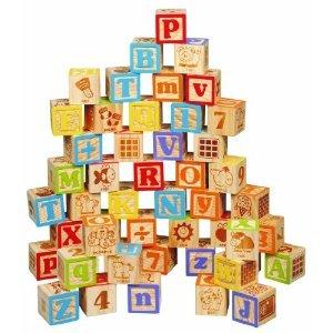 Maxim 45mm Wooden ABC Blocks, 40 Pieces