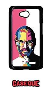 Caseque Steve Jobs Portrait Back Shell Case Cover for LG L70