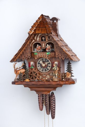 One Day Three Weight Musical Cuckoo Clock with Hunter