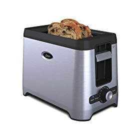 Oster TSSTRT2SST 2-Slice Extra Wide Slot Retractable Cord Toaster, Stainless Steel